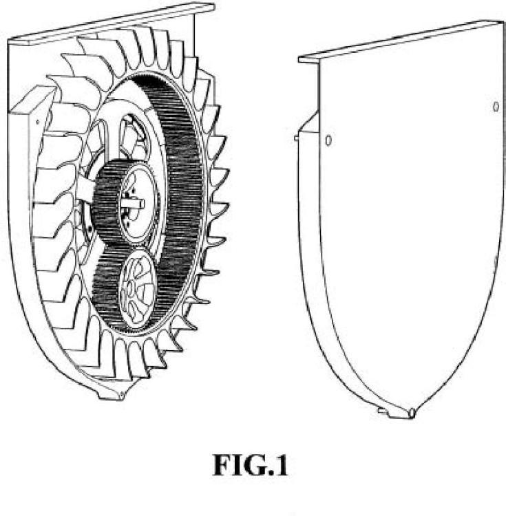 Generador eléctrico contra-rotatorio.