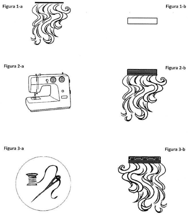 Extensiones de clip cosidas.