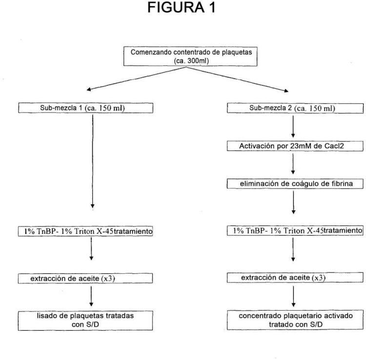 Procedimiento de producción de un concentrado coagulable de factores de crecimiento de plaquetas.