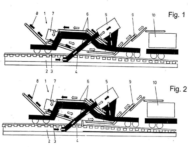 Dispositivo para el saneamiento de un tramo ferroviario para el tráfico de trenes.