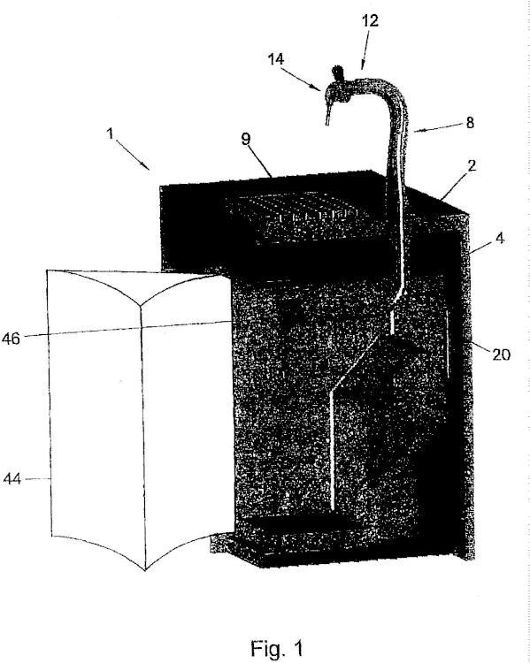 Dispositivo de extracción de bebida.