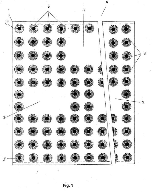 Membrana de impermeabilización y drenaje almohadillada.