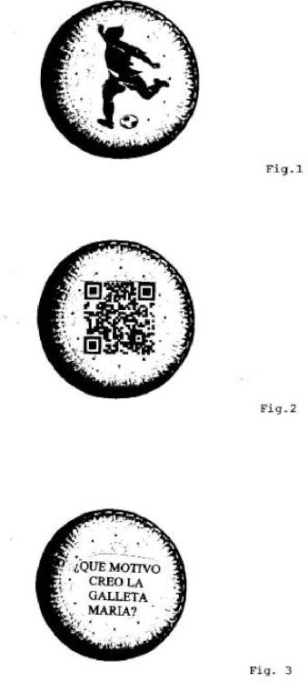 Galleta comestible portadora de información virtual coleccionable.