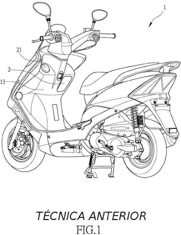 Motocicleta tipo scooter.