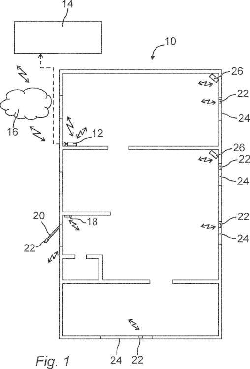 Un sistema de alarma y un método para detectar intrusión en una estructura mediante emisión acústica.