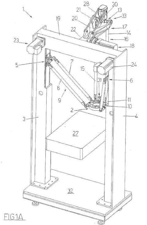 Un dispositivo para mover y colocar un elemento en el espacio.