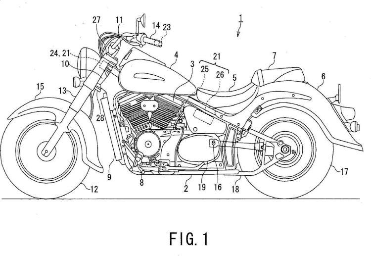 Dispositivo de control de crucero para una motocicleta.