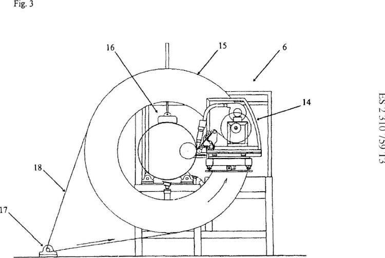 Dispositivo para la fabricación de un refuerzo en un tubo de plástico.