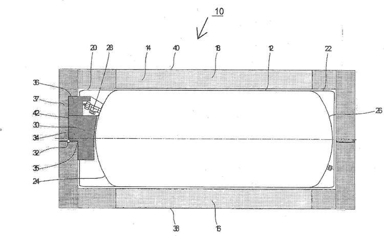 Disposición para el transporte, en particular para el transporte de UF6.