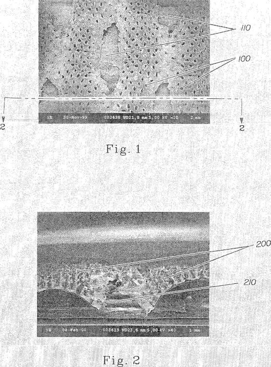 Bandas de película polimérica con orificios y artículos absorbentes que utilizan tales bandas.