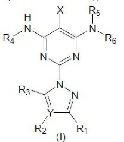 Nuevos derivados de pirimidina como inhibidores de la fosfodiesterasa 10 (PDE-10).