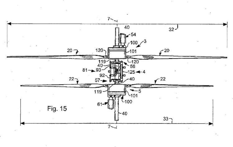 Vehículo de alas giratorias.