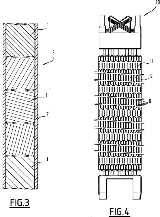 Pastillas de combustible compactadas y sinterizadas para reactor nuclear, barra de combustible y conjunto de combustible correspondientes.