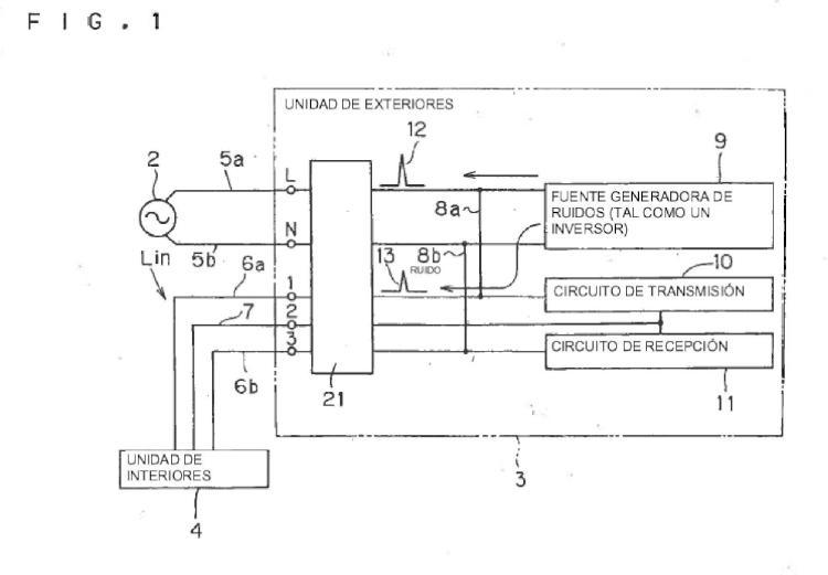 Filtro sonoro, unidad de exteriores y acondicionador de aire.
