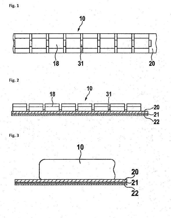 Pesos de equilibrado con cinta adhesiva de múltiples capas.