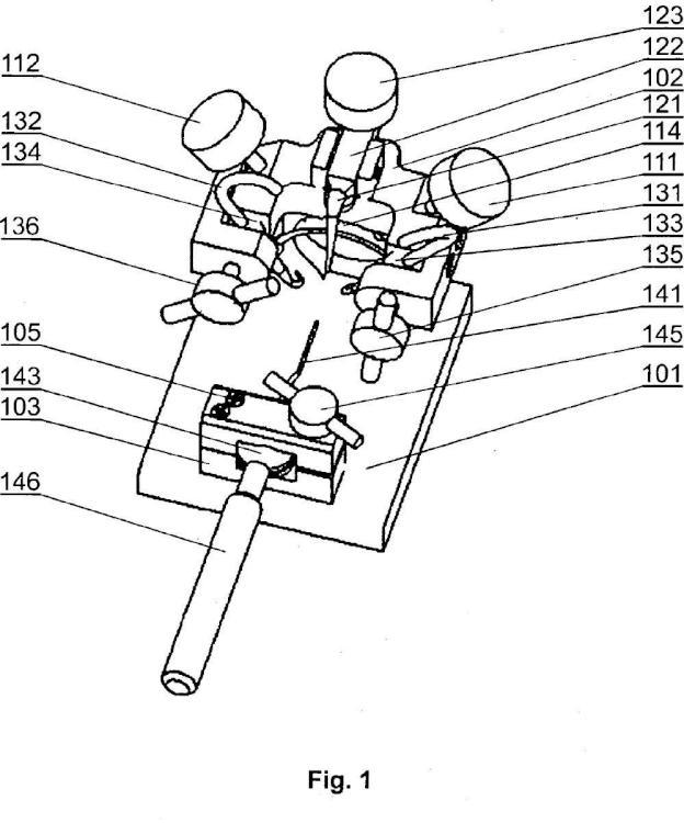 Un dispositivo para corregir uñas de pie encarnadas.