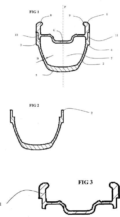 Perfiles huecos de aleación de aluminio.