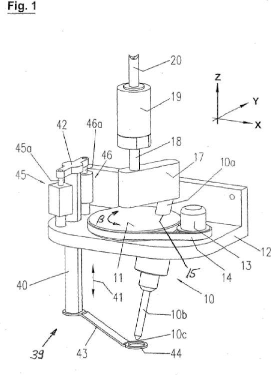 Dispositivo y procedimiento para cortar por chorro de agua.