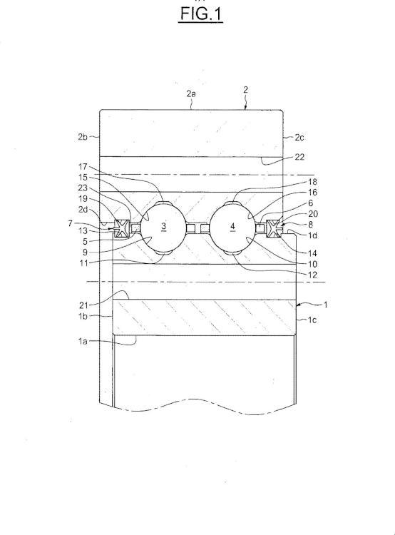 Junta estanca en forma de X para cojinetes de bolas, en particular para cojinetes de bolas utilizados en una turbina eólica.