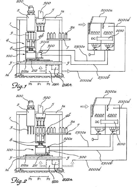 Máquina de bajo consumo de potencia para el moldeo por soplado de recipientes.
