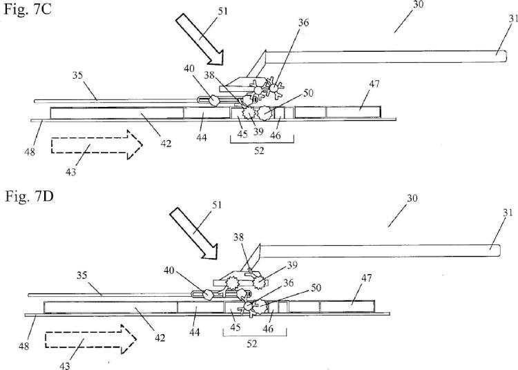 Ensayo de flujo lateral multiplanar con compresor de muestras.