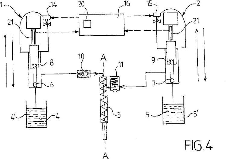Procedimiento de control de un sistema de dosificación y mezcla de un producto con varios componentes, sistema de dosificación y de mezclado de dicho producto, e instalación de pulverización o de extrusión que comprende tal sistema.