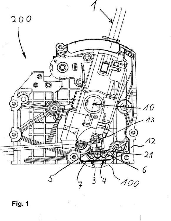 Dispositivo para la detección de la posición de una palanca de cambio y/o palanca selectora para un engranaje y dispositivo de cambio para la caja de cambios de un automóvil.