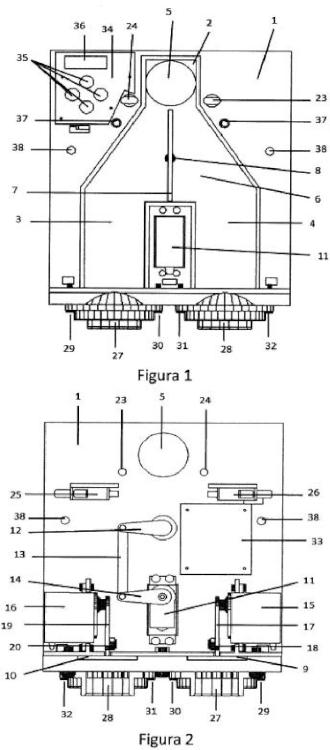 Dosificador automático de café con compuerta frontal desmontable.