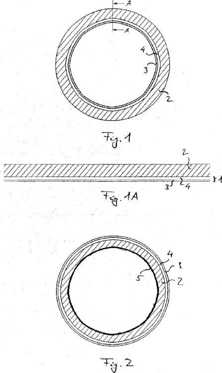 Tubo de revestimiento interior, tubo de presión saneado y procedimiento para sanear un tubo de presión.