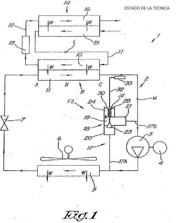 Dispositivo y procedimiento de secado en frío de un gas.