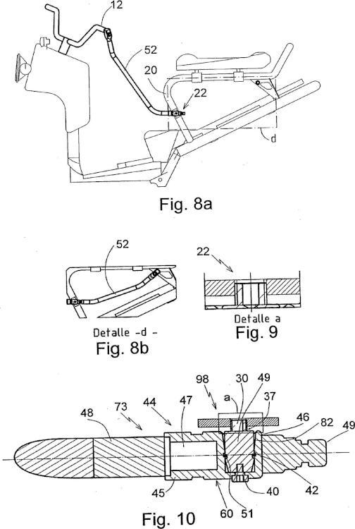 Punto fijo para dispositivo antirrobo para vehículos de dos o más ruedas.