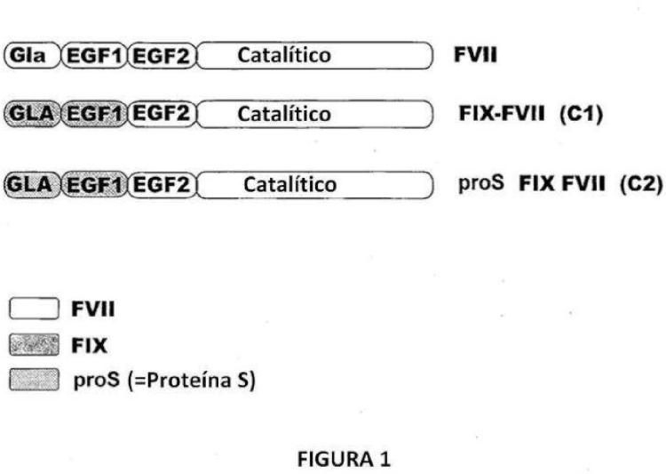 Moléculas del Factor VII quimérico.