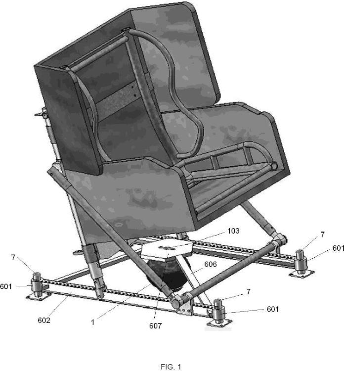 Dispositivo reductor de vibraciones en la silla de los pilotos de helicopteros.