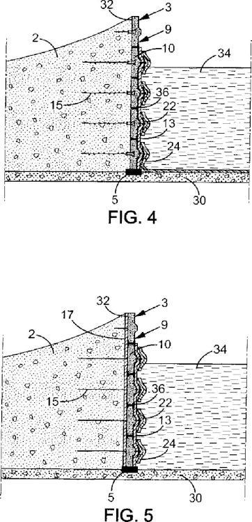 Un elemento de revestimiento para una estructura de suelo reforzado.