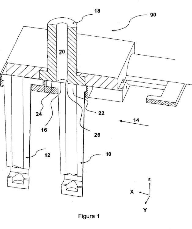 Marco para un dispositivo para mantener y reemplazar placas de colada y conjunto.