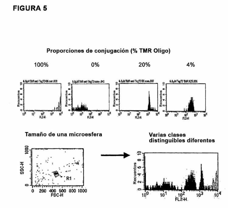 Detección del virus del papiloma humano (VPH) usando sondas de ácidos nucleicos, microperlas y clasificadores celulares activados por fluorescencia (FACS).