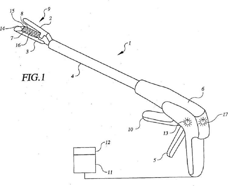 Dispositivo combinado de disección, cauterización y grapado.