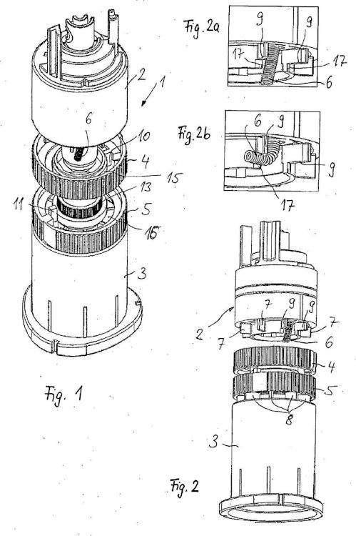 Dispositivo para la inversión mecánica de la dirección de un componente de control móvil giratorio de un dispositivo de riego de jardín.
