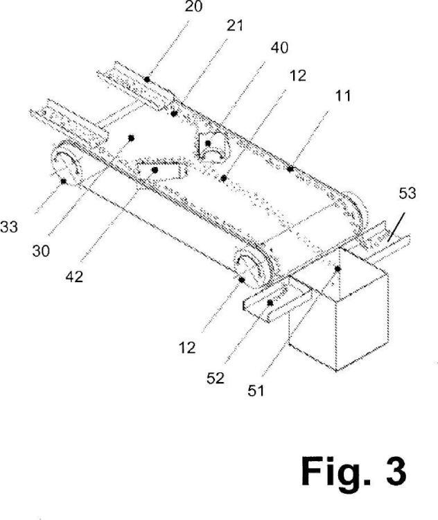 Dispositivo y procedimiento para separar partículas de diferente conductividad eléctrica.
