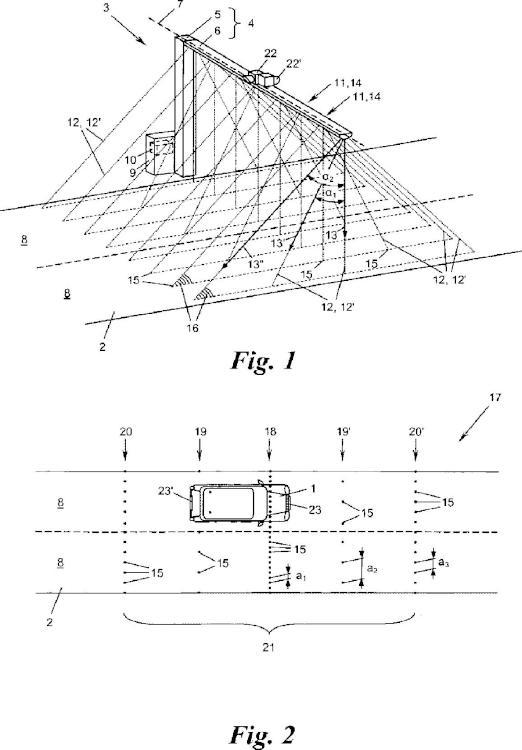 Dispositivo para la medición de un vehículo.