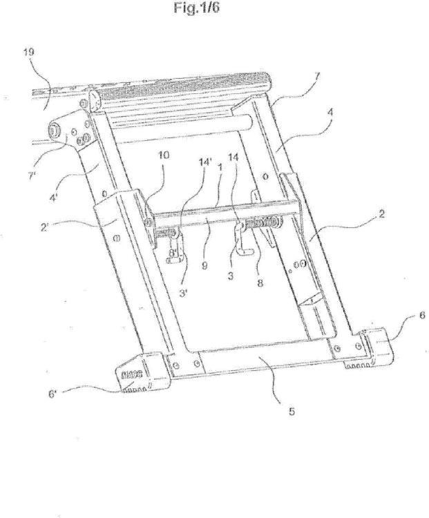 Dispositivo de alzamiento para escalera, escalerilla o plataforma de trabajo.