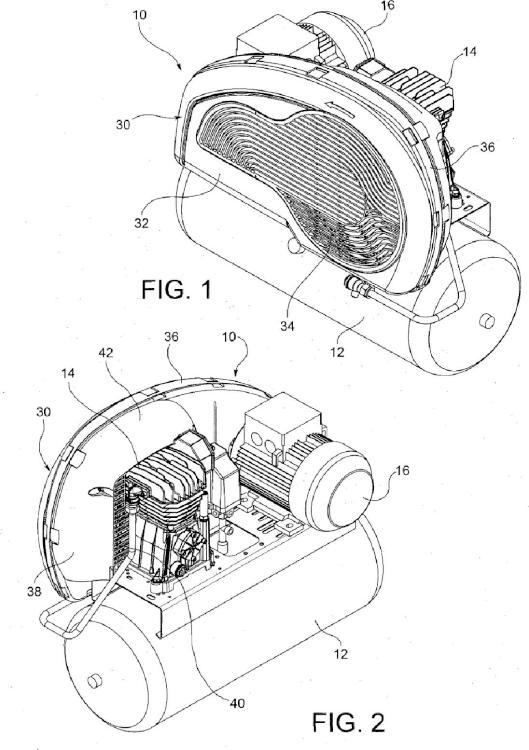 Compresor de aire provisto de protector de correa.