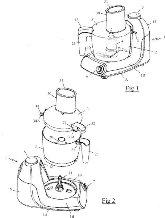 Aparato electrodoméstico de preparación culinaria que comprende un recipiente que contiene una herramienta de corte arrastrada en rotación por un motor.