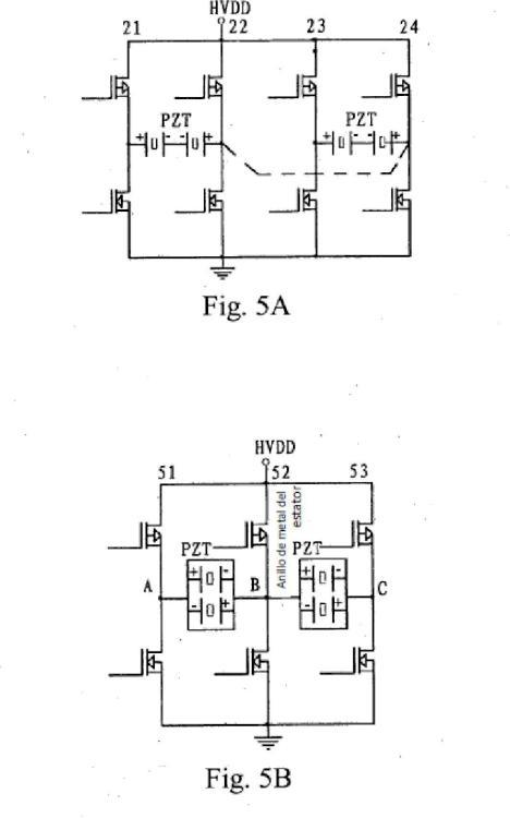 Método de accionamiento de motor ultrasónico.
