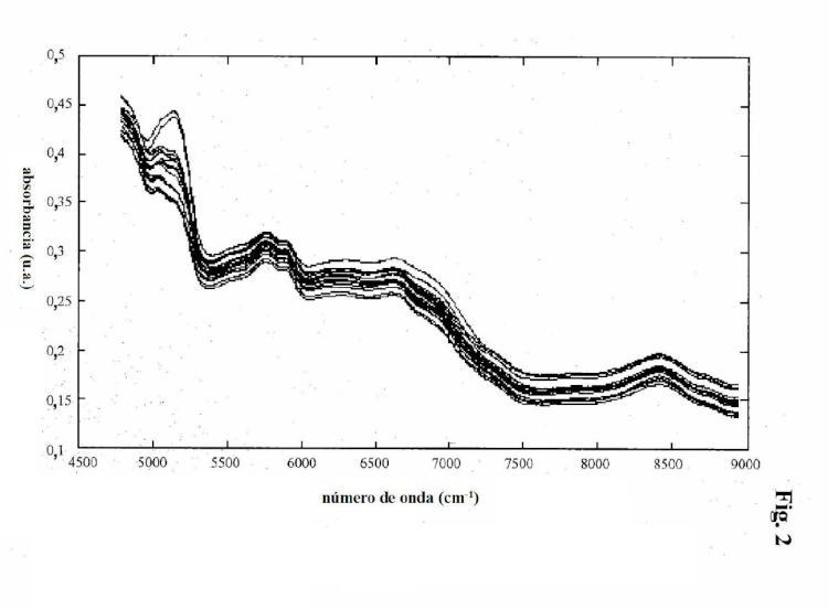 Impresión digital espectroscópica de materias primas.