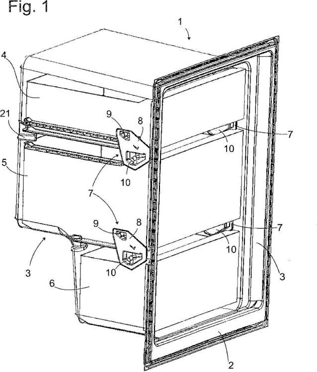 Aparato de refrigeración con contenedor extraíble.