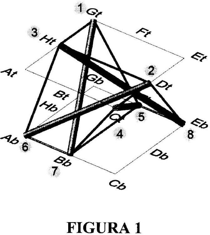 Módulo estructural de tensegridad y malla estructural de doble capa que comprende dicho módulo.