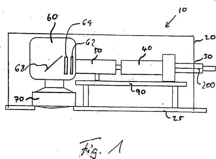 Unidad de irradiación óptica para una planta para la producción de piezas de trabajo mediante la irradiación de capas de polvo con radiación de láser.