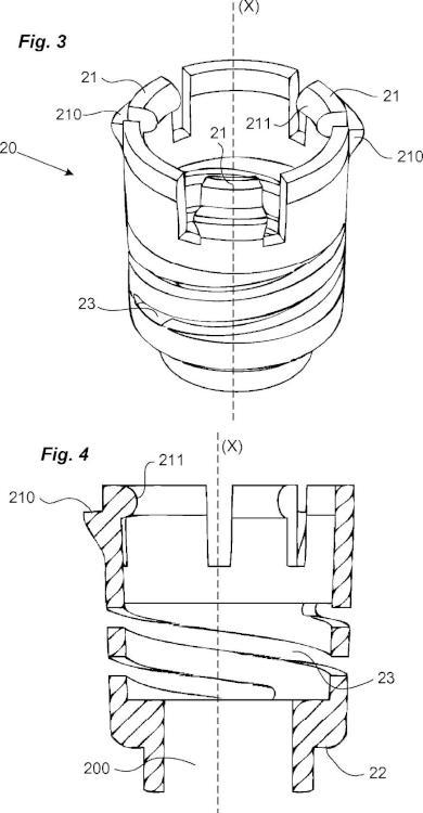 Dispositivo de fijación para panel de armario eléctrico.