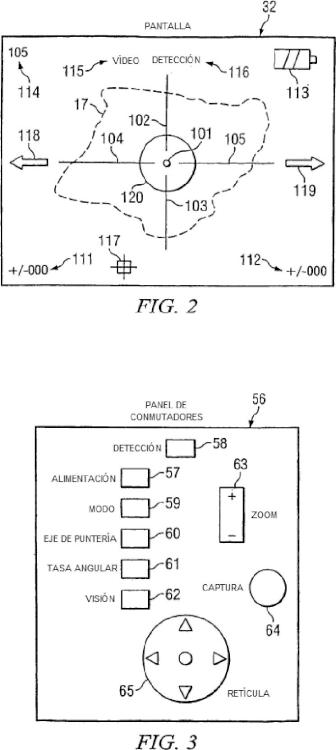 Mira electrónica para arma de fuego y procedimiento de funcionamiento de la misma.